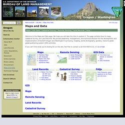 Maps and Data Oregon/Washington BLM