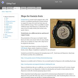Maps for Garmin fenix