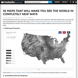 36 maps that will make you see the world in completely new ways