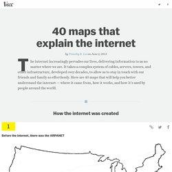 Internet en 40 cartes (en anglais)