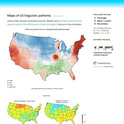 Maps of US linguistic patterns