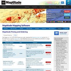 Maptitude Pricing and Ordering