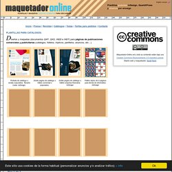 Maquetador online - Sección catálogos