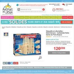 Maquette en allumettes - Cathédrale Notre Dame de Paris- Bojeux - Avenue des Jeux