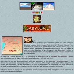 Maquette de Babylone