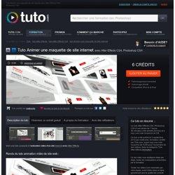 animer une maquette de site internet avec After Effects CS4, Photoshop CS4 sur Tuto