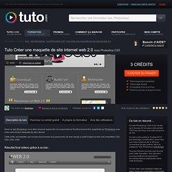 créer une maquette de site internet web 2.0 avec Photoshop CS5 sur Tuto