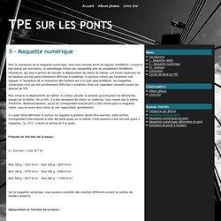 II - Maquette numérique - TPE sur les ponts