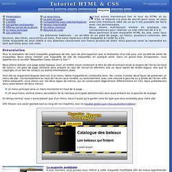 Maquette - Tutoriel HTML & CSS