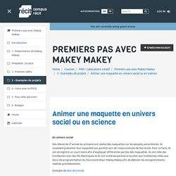 Makey Makey: Animer une maquette en univers social ou en science