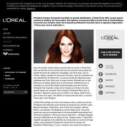 L'Oréal Paris : maquillage, soin de la peau, soin cheveux, coloration-L'Oréal Groupe