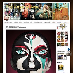 Por Amor al Arte: Arte de maquillaje en retratos 2D de Valeriya Kutsan.