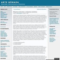 Máquinas nómadas y máquinas estatales « ARTE NÓMADA