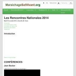 Maraîchage Sol Vivant : RencontresMSV2014