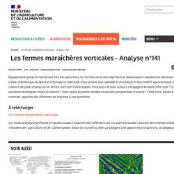 MAA CEP 19/07/19 Les fermes maraîchères verticales - Analyse n°141