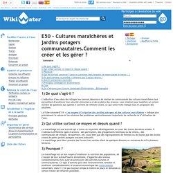 E50 – Cultures maraîchères et jardins potagers communautaires.Comment les créer et les gérer?