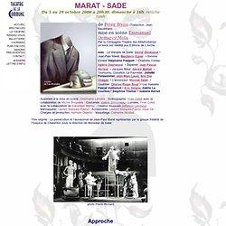 MARAT - SADE au Théâtre de la Commune