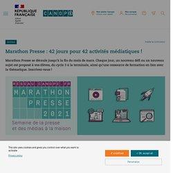 Marathon Presse : 42 jours pour 42 activités médiatiques ! - Réseau Canopé