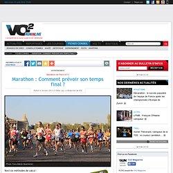Marathon : Comment prévoir son temps final? - Entraînement - Conseil course à pied - VO2 Run in live