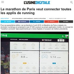 Le marathon de Paris veut connecter toutes les applis de running