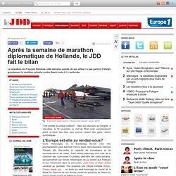 Après la semaine de marathon diplomatique de Hollande, le JDD fait le bilan