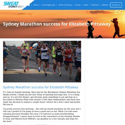 Sydney Marathon success for Elizabeth Pittaway - SWEAT