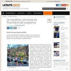 Le marathon, une école de l'humilité et de la patience