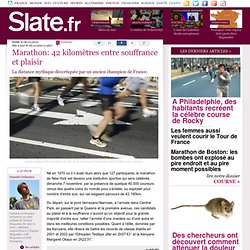 Marathon: 42 kilomètres entre souffrance et plaisir
