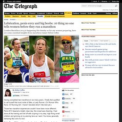 London Marathon 2014: Lubrication, bras and loo roll: marathon running tips for women