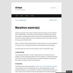 Marathon mantra(s)