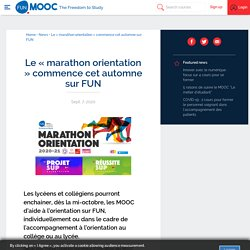 Le « marathon orientation » commence cet automne sur FUN