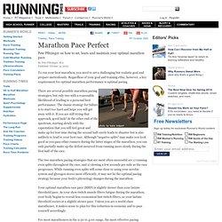 Marathon Pace Perfect