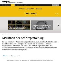 TYPO Talks » Blog Archiv » Marathon der Schriftgestaltung