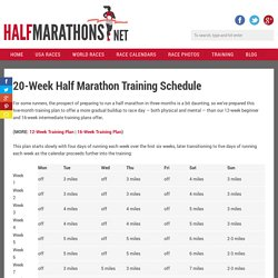 20-Week Half Marathon Training Plan for Beginner & Experienced Runners