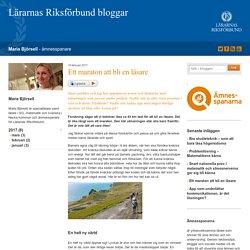 Ett maraton att bli en läsare - Maria Björsell