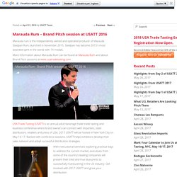 Marauda Rum - Brand Pitch session at USATT 2016USA Trade Tasting Blog