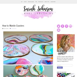 How to: Marble Coasters