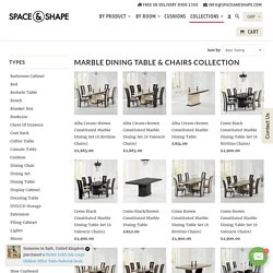 Marble Dining Table & Chairs Collection - Space & Shape