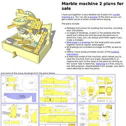 Marble machine 2 plans for sale