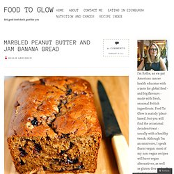 Marbled Peanut Butter and Jam Banana Bread