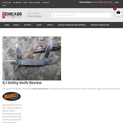 Marbles G.I Utility Knife Review - Chicago Knife Works