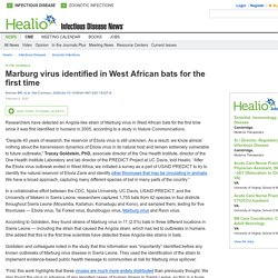HEALIO 08/02/20 Marburg virus identified in West African bats for the first time