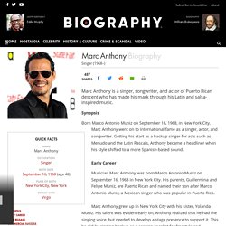 Marc Anthony - Biography - Singer