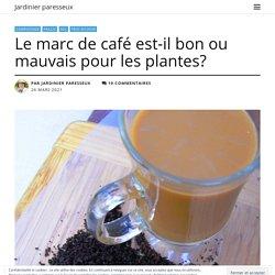 Le marc de café est-il bon ou mauvais pour les plantes?