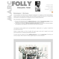 Marc Folly — Estampes / Giclees