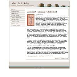 comment encadrer l'adolescent - Marc de LaSalle