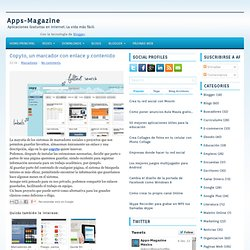 Copyto, un marcador con enlace y contenido ~ Apps-Magazine
