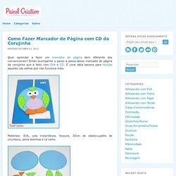o Fazer Marcador de Página com CD da Corujinha