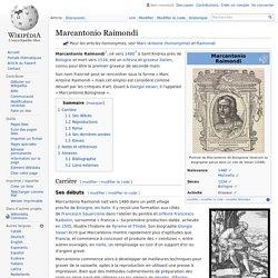 Un graveur : Marcantonio Raimondi