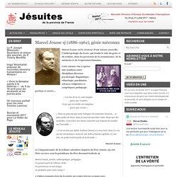 Marcel Jousse sj (1886-1961), génie méconnu